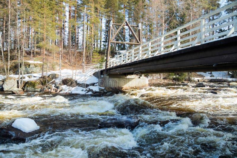 Tama i próg na rzecznym Jokelanjoki, Kouvola, Finlandia fotografia royalty free