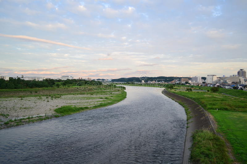 Tama river royalty free stock photos