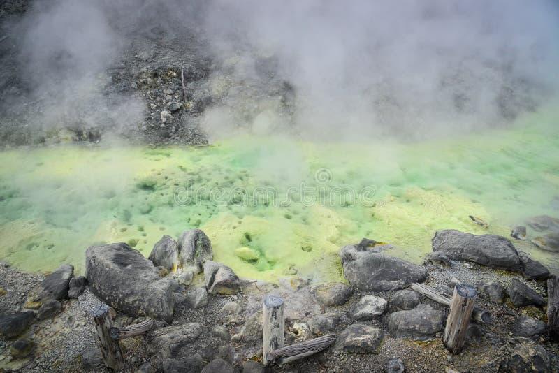 Tamagawa-heiße Quelle in Akita, Japan lizenzfreie stockbilder