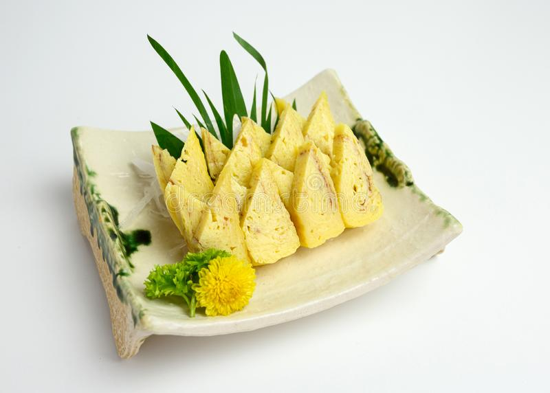 Tamago or omelet of japanese appetizer royalty free stock photography