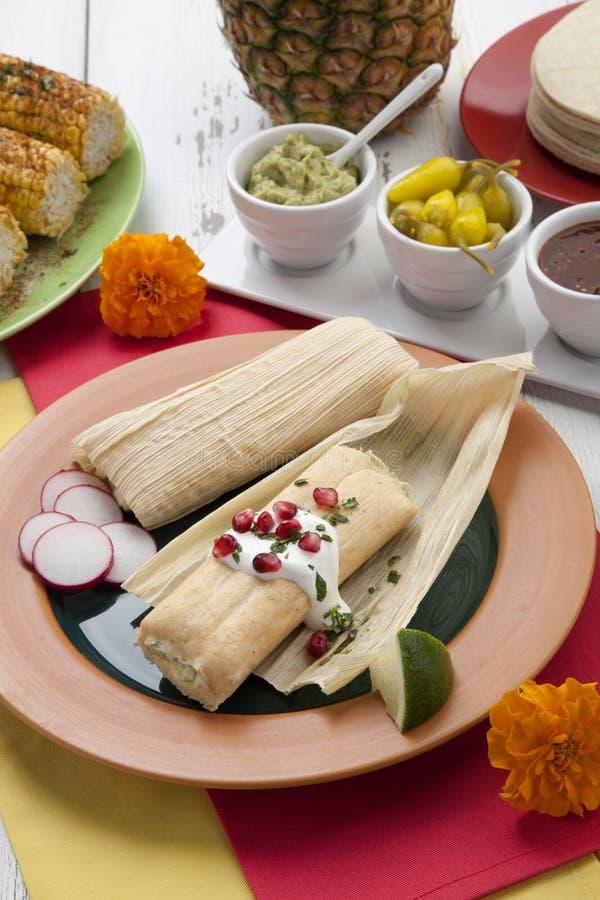 Tamales de fromage et de Jalapeno images stock