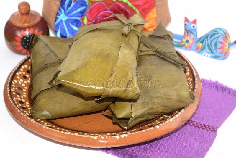 Tamales mexicanos tradicionales de los estados de Oaxaca y de Chiapas para la celebración de Candelaria Day fotos de archivo libres de regalías
