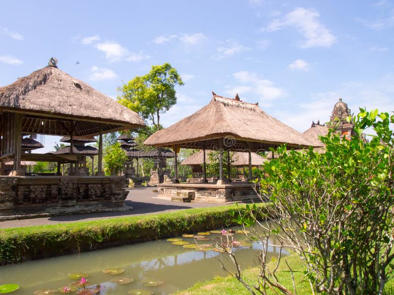 Taman Ayun of Balinese temple and garden with water features located in Mengwi district in Badung Regency, Bali, Indonesia. Taman Ayun of Balinese temple and royalty free stock images