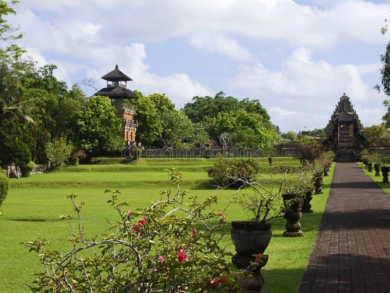 Taman Ayun Temple meadow stock photos