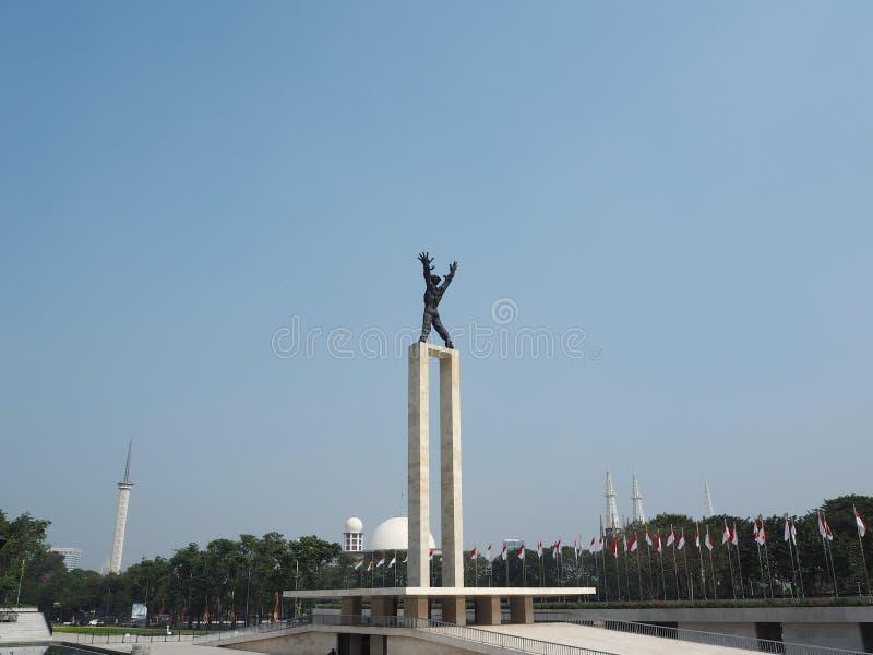 Taman Lapangan Banteng, Джакарта стоковое фото rf
