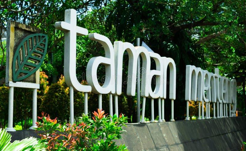 Taman Menteng, Jakarta royaltyfri foto