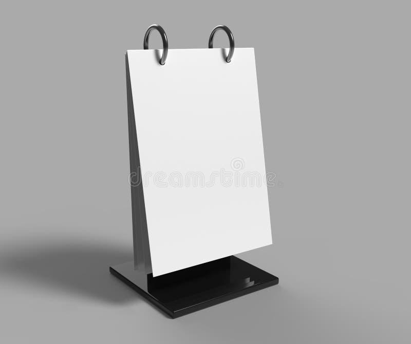A5 tamanho acrílico Flip Menu Holder 3d rendem a ilustração ilustração do vetor