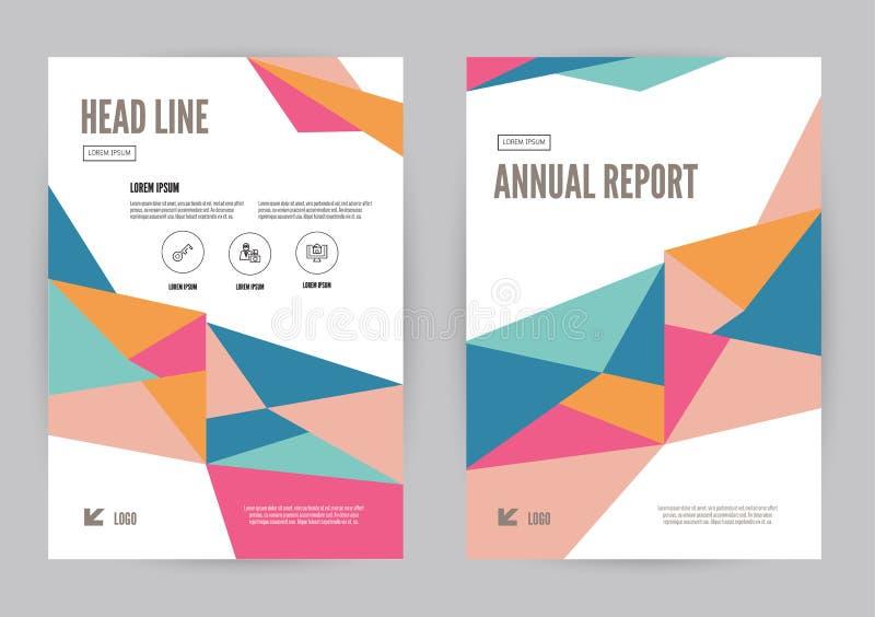 Tamanho colorido do molde A4 do inseto do folheto do folheto do informe anual ilustração stock