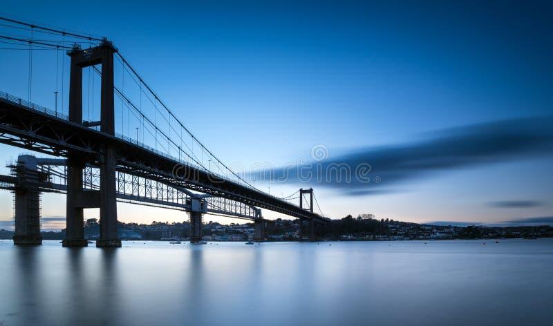 Tamar Bridge royalty-vrije stock foto