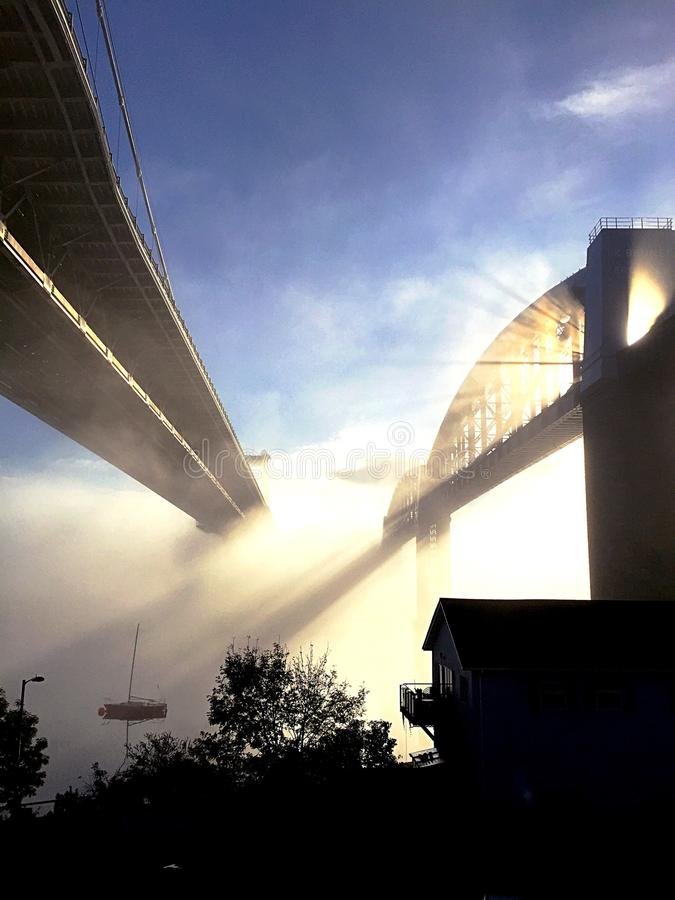 Tamar Bridge images libres de droits