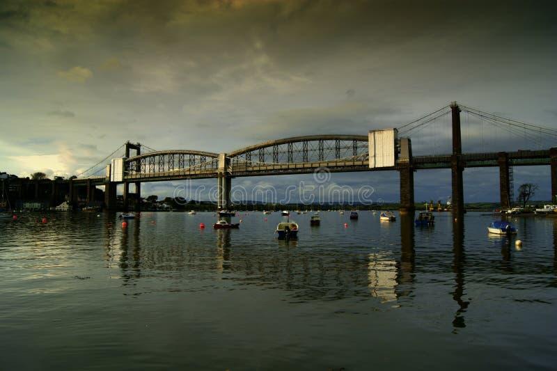Tamar-brug over de rivier Tamar Devon royalty-vrije stock afbeelding