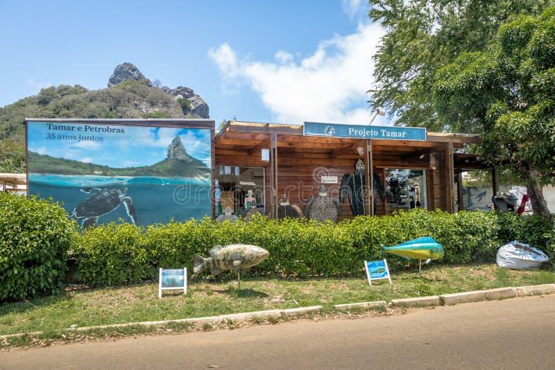 Tamar Project Projeto Tamar hat an Boldro-Dorf - Fernando de Noronha, Pernambuco, Brasilien Hauptsitz lizenzfreies stockbild