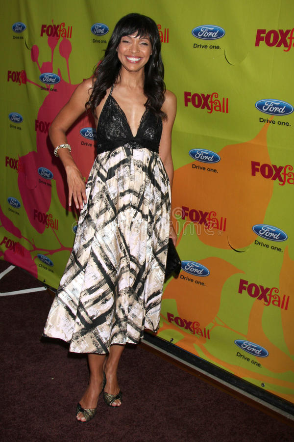 Tamara Taylor. Arriving at the FOX-Fall Eco-Casino Party at BOA Steakhouse in West Los Angeles, CA on September 14, 2009 stock photography