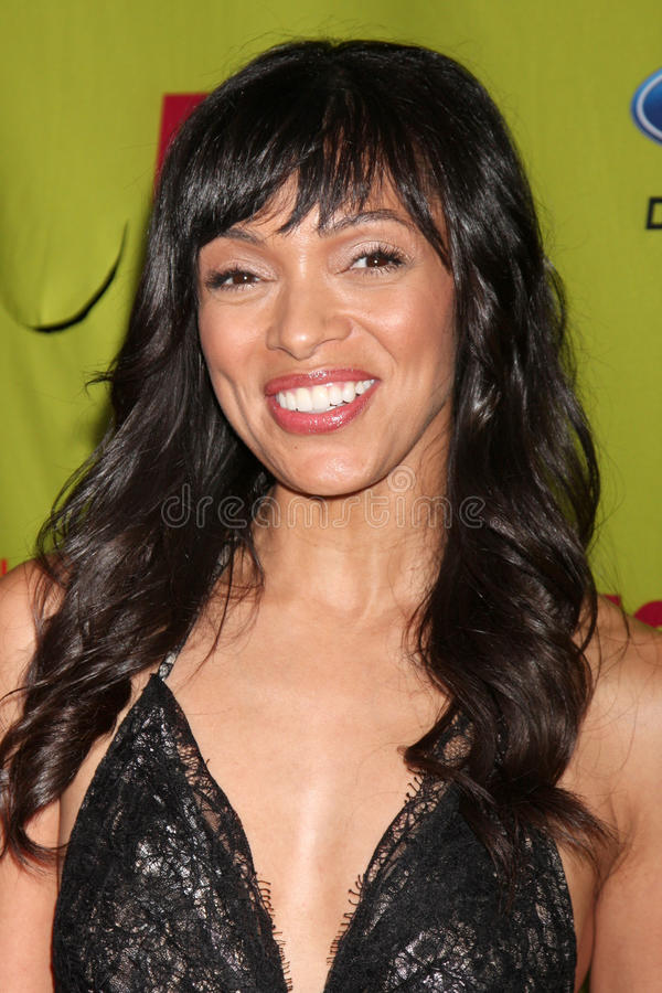 Tamara Taylor. Arriving at the FOX-Fall Eco-Casino Party at BOA Steakhouse in West Los Angeles, CA on September 14, 2009 stock photo