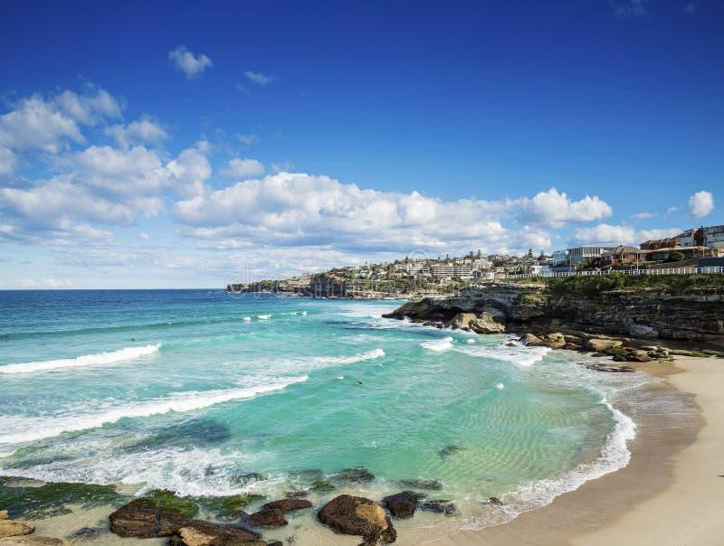 Tamaramastrand dichtbij bondi op de kust van Sydney Australië stock afbeeldingen