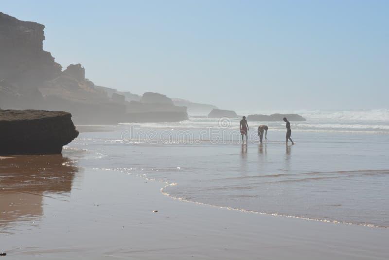 Tamari海滩 免版税库存照片