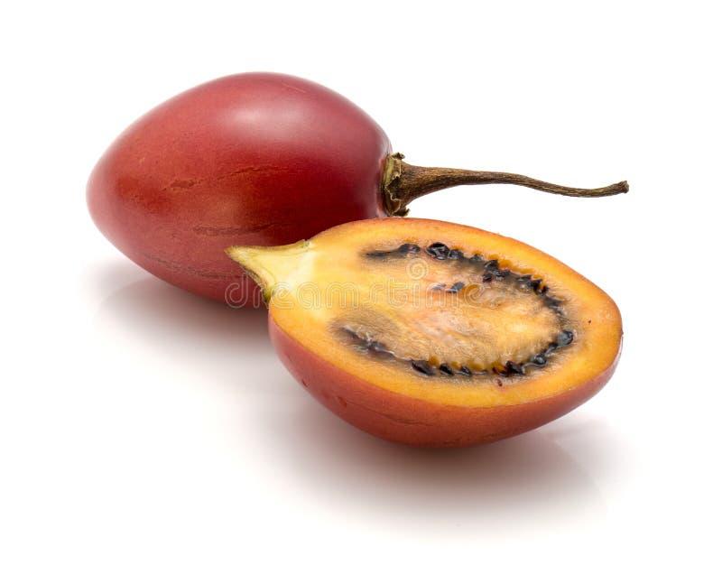 Tamarillo owoc odizolowywająca fotografia stock