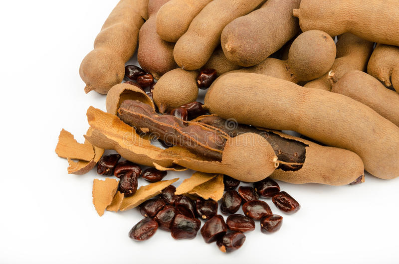 Tamarind (Tamarindus indica) stock photos