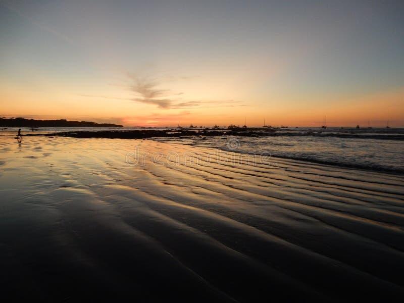 Tamarindo Costa Rica zmierzch zdjęcia stock