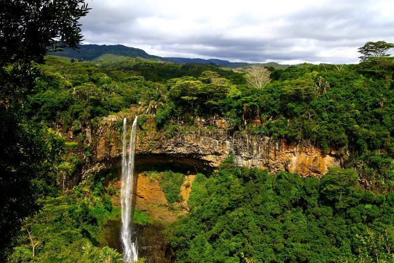 Tamarinnedgångar, Mauritius Island royaltyfria bilder