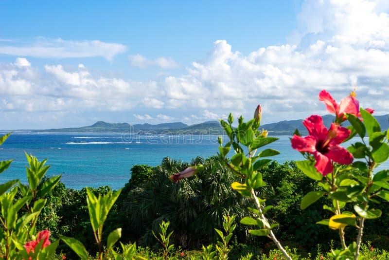 Tamarotizaki en île d'Ishigaki, Okinawa Japan photos stock