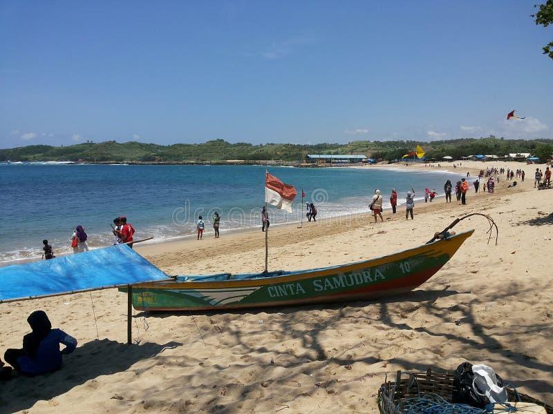 Tambakrejo Beach stock photo