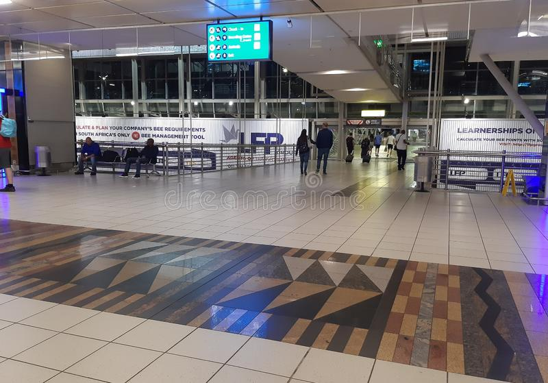 OR Tambo International Airport in South Africa royalty free stock photography