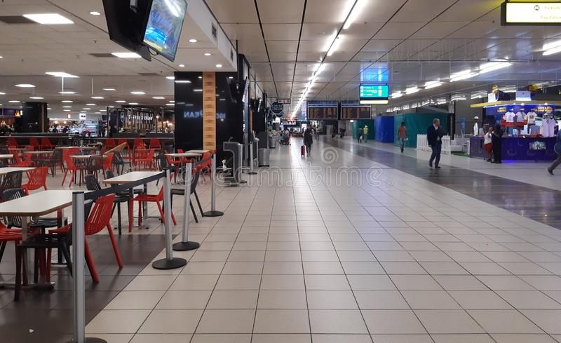 OR Tambo International Airport in South Africa royalty free stock photo