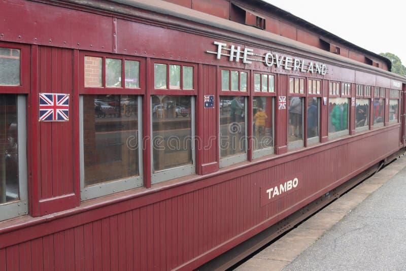 Tambo la voiture de salon originale à l'origine construite comme wagon -lit pour l'usage sur Melbourne au train d'Adelaide Overla photos stock