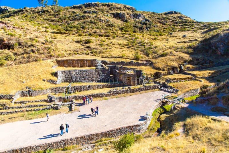 Tambomachay - archeologische plaats in Peru, dichtbij Cuzco. royalty-vrije stock foto