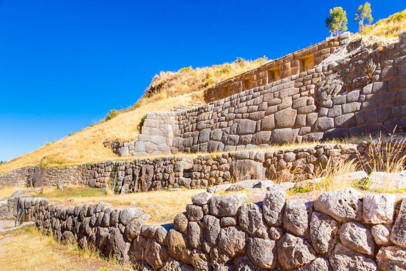 Tambomachay - archeologische plaats in Peru, dichtbij Cuzco. royalty-vrije stock afbeeldingen