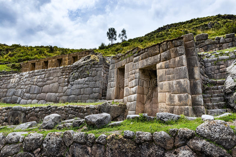 Tambomachay ruine, près de Cuzco, le Pérou photo libre de droits