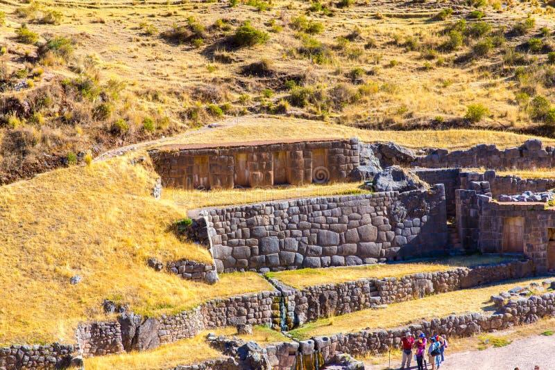 Tambomachay - site archéologique au Pérou, près de Cuzco. image libre de droits