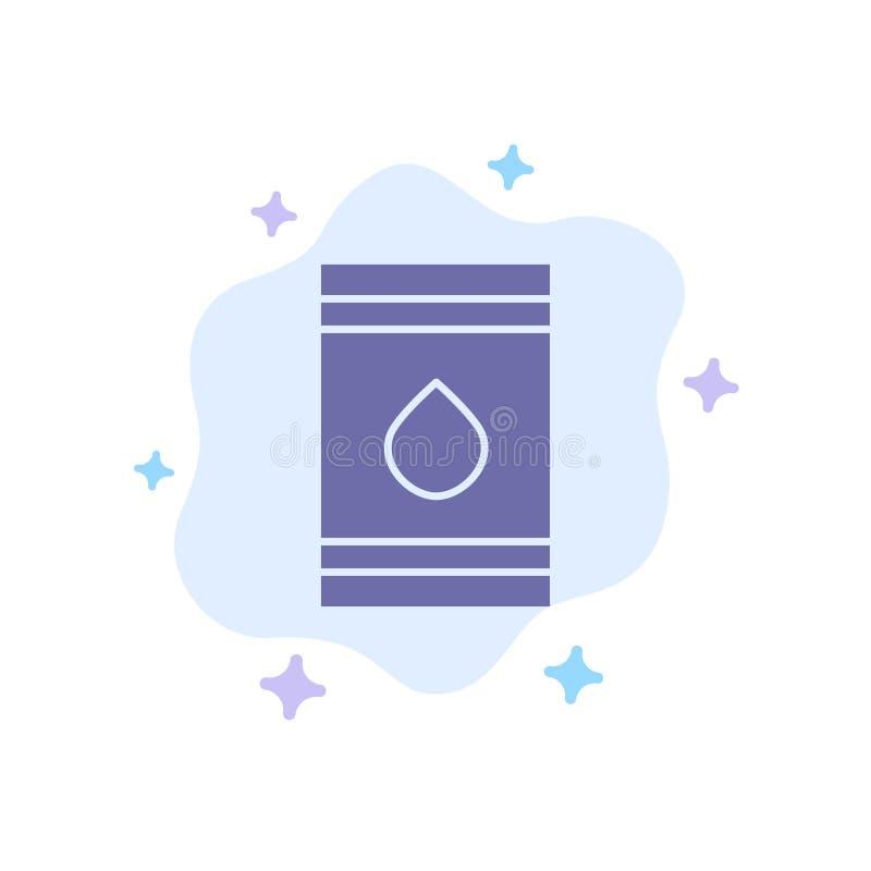 Tambor, óleo, combustível, flamable, ícone azul de Eco no fundo abstrato da nuvem ilustração royalty free