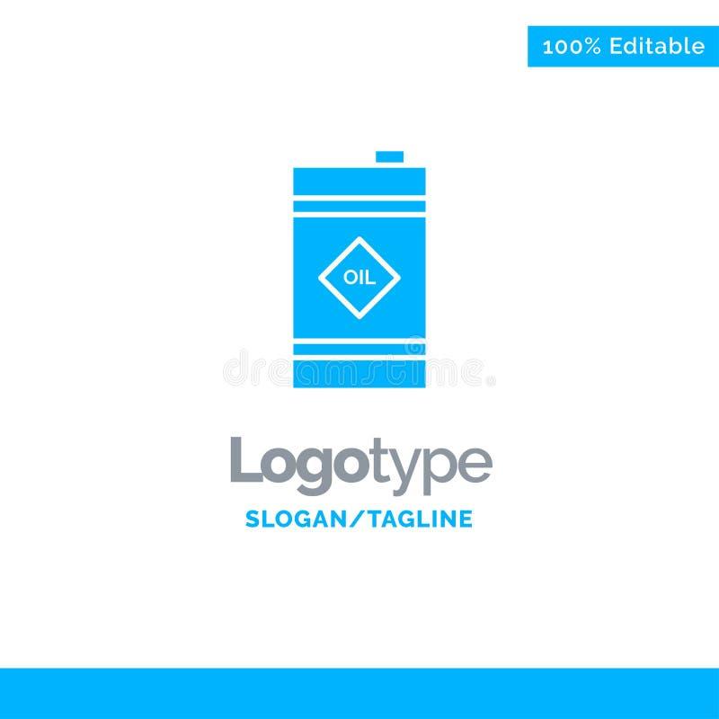 Tambor, óleo, tambor de óleo, Logo Template contínuo azul tóxico Lugar para o Tagline ilustração stock