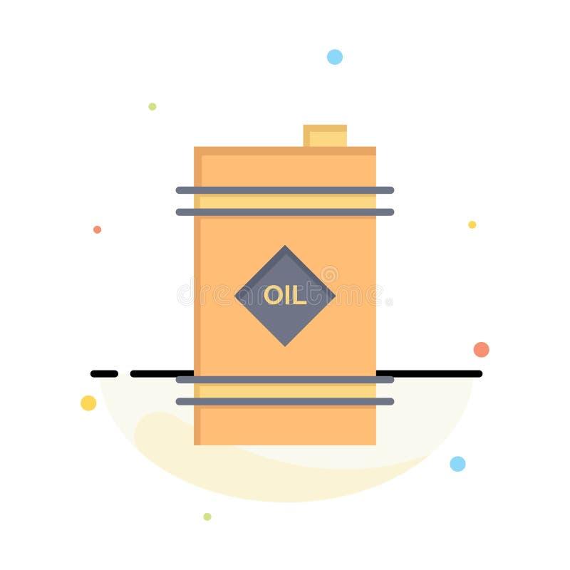 Tambor, óleo, tambor de óleo, negócio tóxico Logo Template cor lisa ilustração royalty free