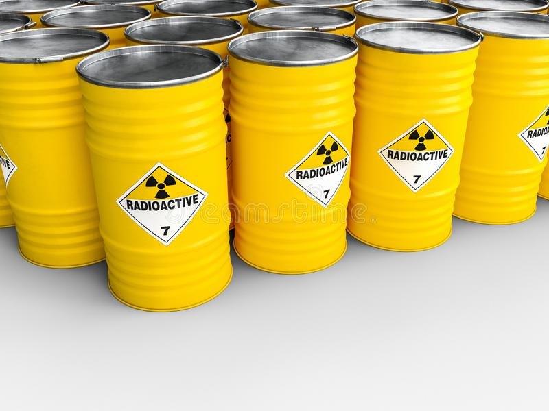 Tambor amarelo radioativo ilustração royalty free