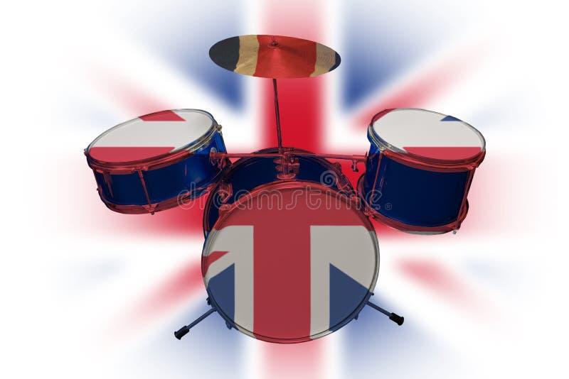 Tambor británico ilustración del vector
