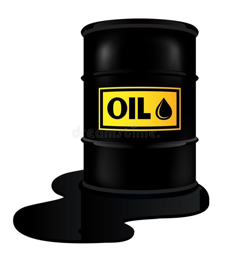 Tambor com óleo ilustração do vetor
