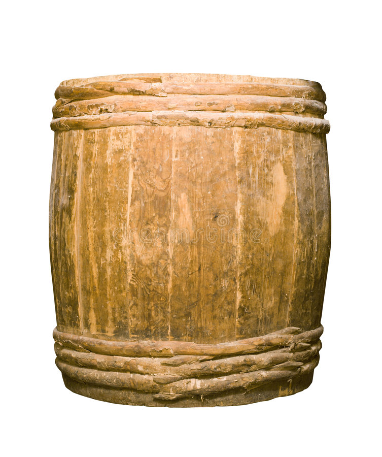 Tambor completamente de madeira velho imagem de stock royalty free