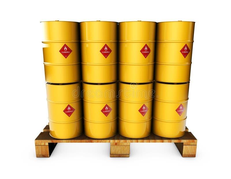 tambor de óleo 3d em um fundo branco ilustração stock