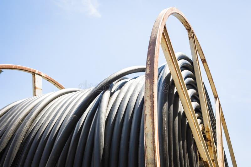Tambor de cable fotos de archivo