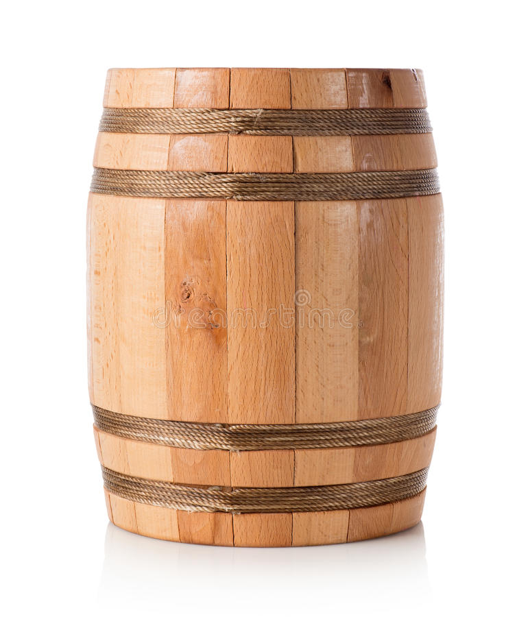 Tambor de madeira isolado fotografia de stock royalty free