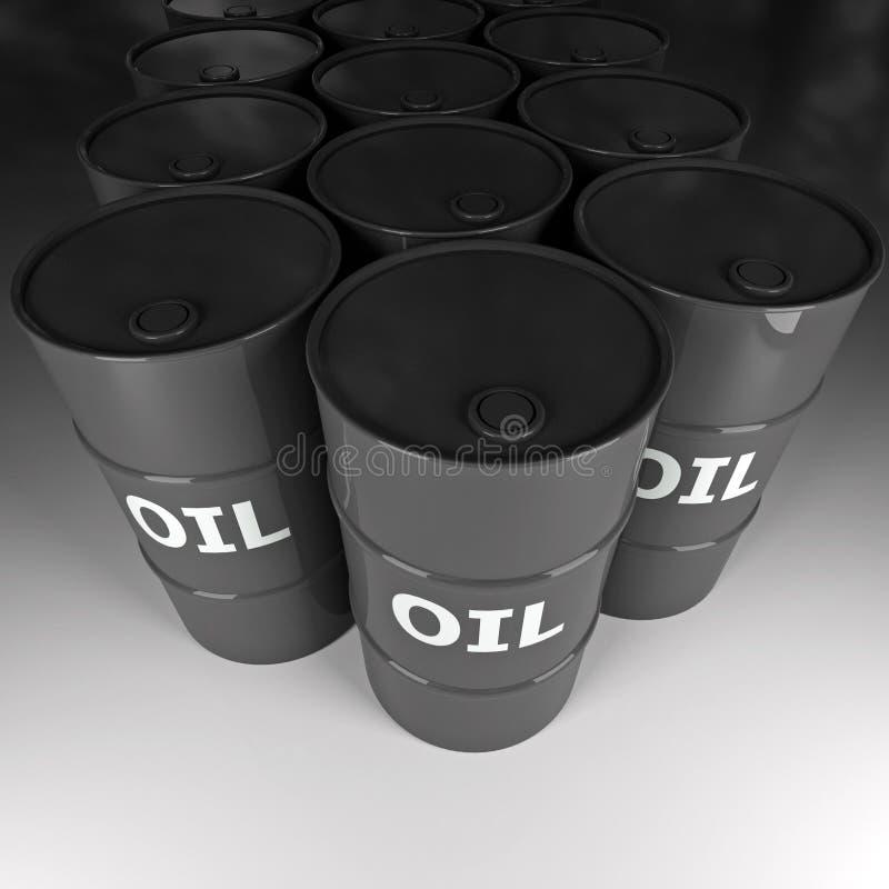 Tambor de petróleo ilustração do vetor