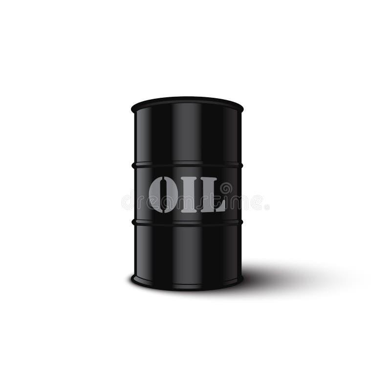 Tambor de petróleo isolado no fundo branco Ilustração do vetor ilustração royalty free