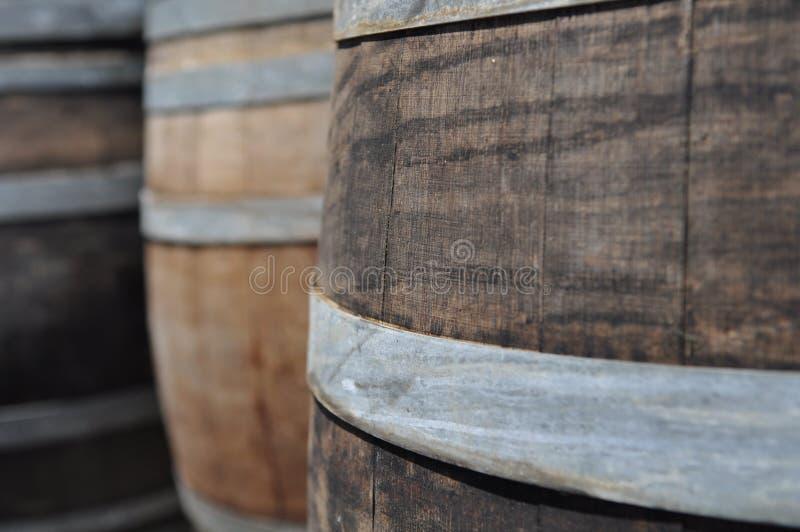 Tambor de vinho do carvalho imagem de stock