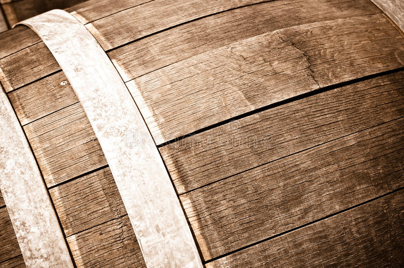 Tambor de vinho do carvalho fotografia de stock