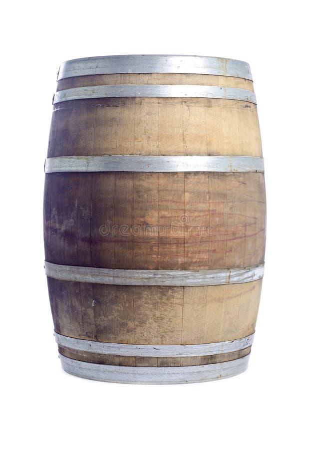 Tambor de vinho do carvalho isolado em #5 branco foto de stock royalty free