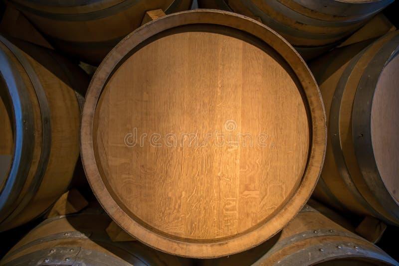 Tambor de vinho no castelo - Veytaux, Suíça foto de stock