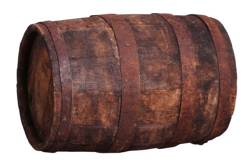 Tambor de vinho velho fotografia de stock